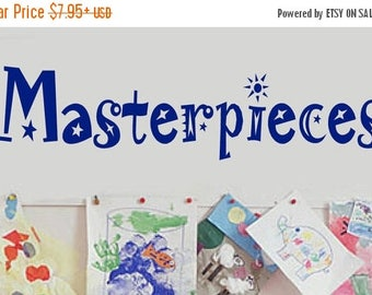 20% OFF Masterpieces -Vinyl Lettering decal wall childrens room classroom decals kids words bedroom art quotes graphics Home decor itswritte