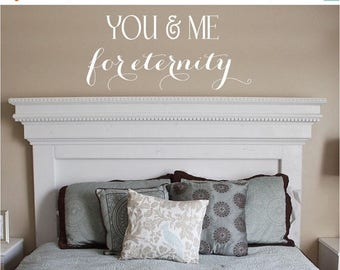 20% OFF You & Me Vinyl Lettering decal bedroom love art  wall words graphics Home decor itswritteninvinyl
