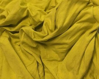 Bamboo Cotton Lycra Jersey Knit Fabric Eco-Friendly 4ways spandex - Palm
