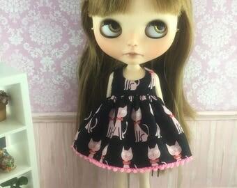 Blythe Dress - Pink Kitties