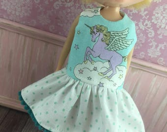 Blythe Drop Waist Dress - Kawaii Unicorn