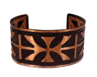 Tribal Copper Cuff Bracelet, ca. 1960s