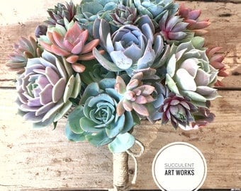 Succulent Wedding Bouquet Customized for Your Special Day