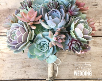 Succulent Wedding Bouquet, Customized Wedding Bouquet, Bridal Bouquet, Brides Bouquet, Wedding Succulents, wedding day Succulents