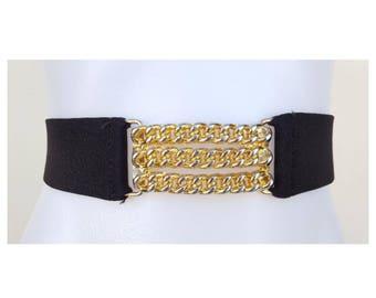 Vintage belt / Gold Chain Belt / 80s Belt