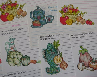 Vintage Unused Recipe Cards ~*~ Sweet Collection of 12