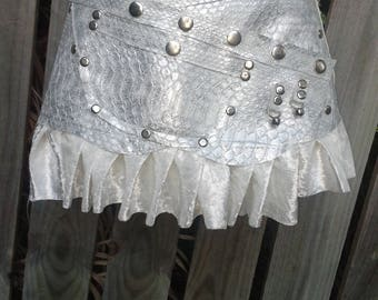 """20%OFF gothic bohemian gypsy lagenlook  quality light weight croc print pleather  belt...30"""" to 38"""""""