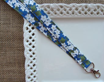 Fabric Lanyard - Cherry Blossoms in the Sky