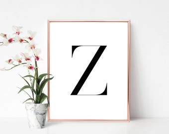 SALE -50% Letter Z Monogram Alphabet Name Digital Print Instant Art INSTANT DOWNLOAD Printable Wall Decor
