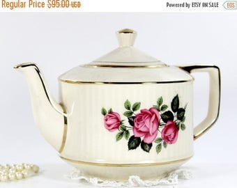ON SALE Sadler Teapot, Vintage Sadler, Antique Tea Pot, English Tea, Large Teapots 12677
