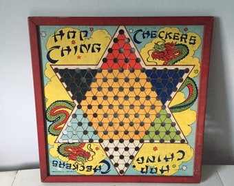 Vintage Chinese Checkers Game Board Toy