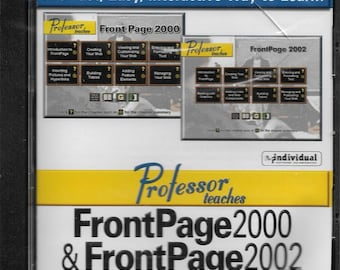 CD Professor teaches FrontPage2000 & Front Page 2002 Invidual Software 2000-2001