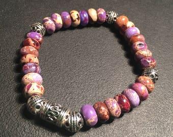 Unisex Purple Jasper Bracelet