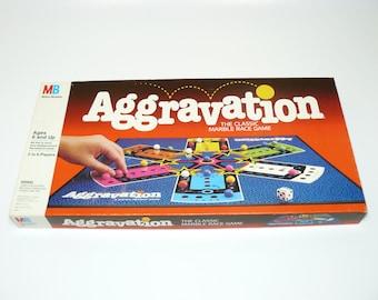 1989 Aggravation Board Game Milton Bradley The Original Marble Game Vintage