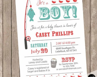 boy fishing baby shower invitation fishing theme baby shower fishing pole invitation fish