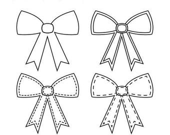 40% OFF SALE Bows Digital Stamps, Bows Scrapbook Digital Stamps, Printable Gift Bow, Bows Digi Scrap Stamps, Instant Download
