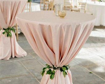 custom pink cotton tablecloth - large 90x156 inches wedding table decor - cocktail party tablecloth round rectangle cotton tablecloth