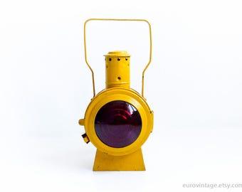 Jahrgang Eisenbahn Laterne / Eisenbahn Signallampe / Industrie Lampe / Kerosin gelb Vintage Lampe