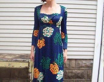 Birthday Sale Floral Empire Peasant Maxi Dress