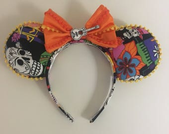 Coco inspired day of the dead sugar skull mouse ears