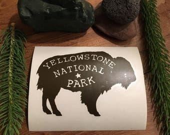 Buffalo Yellowstone National Park Vinyl Decal Laptop Yeti Car 3x5 Oracle 651 sticker
