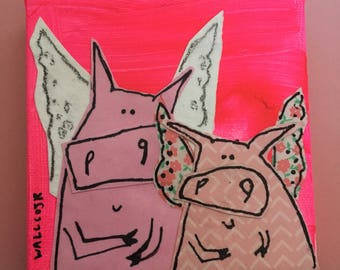 Flying pig friends
