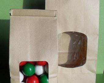 GLAM SALE 50 Kraft Tin-Tie Half Pound Favor Bags, Wedding Favor Bags, Kraft lined Favor Bags, Candy Bags, Popcorn Bags, Cookie Bags, Gift Ba