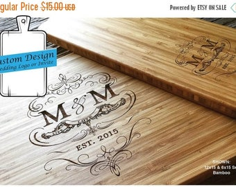 ON SALE Custom Fee for Engraved cutting board, Custom Wedding Gift, Custom Wedding Logo, Custom Wedding Invitation