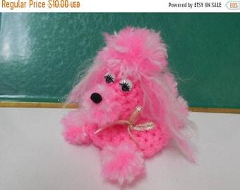 40% OFF NOW Pink Poodle Puppy Soap Cozy, Bar Soap Cozy, Kitsch Bathroom Decor, Sleepy Puppy, Nursery Decor, Baby Girl Shower Gift, Cute Pomp