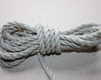 4 mm Linen Rope = 13 Yards = 11.88 Meter of Natural Linen Cord - Natural Color - Organic Natural Fiber Cord - Decorative Rope