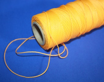 1 mm TWISTED YELLOW Cord = 1 Spool = 110 Yards = 100 Meters of Elegant Polypropylene Rope for Macrame, Sewing, Crocheting, Knitting