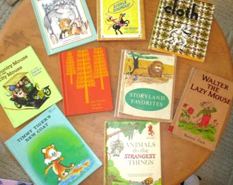 Hardcover Childrens Books/Country Mouse and City Mouse/Walter the Lazy Mouse/Timmy Tiger's New Coat/Jim Forest and the Trapper/Aesop's Fable