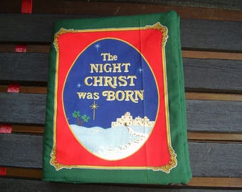 The Night Christ Was Born  Quiet Soft Cloth Baby Toddler Story Book Handmade Ready to Read