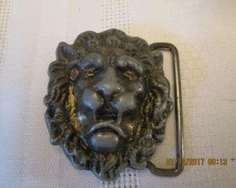 Vintage Starcg Lion Head Belt Buckle, Big Cat Belt Buckle, Leo Zodiac, Retro Lion Heads Buckle, Mens Belt Buckle