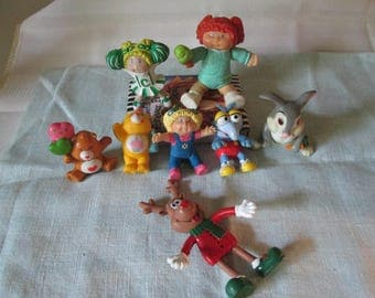 Vintage Mini Cake Toppers, Disney Thumper Rabbit, Cabbage Patch, Care Bears, Sesame Street Gonzo, Toys, Mini Toy Figurine, Cupcake Toppers