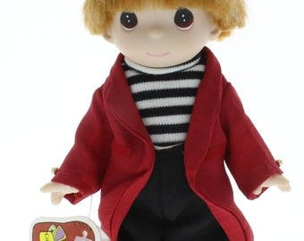 """Children of the World Precious Moments Doll 9"""" Jacque France Little Boy"""