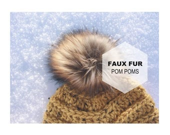10.6cm Wholesale Faux Fur Pom Pom | Wholesale Fur Pom Pom | Wholesale Cruelty Free Fur Pom Poms | Wholesale Fur Pom Pom