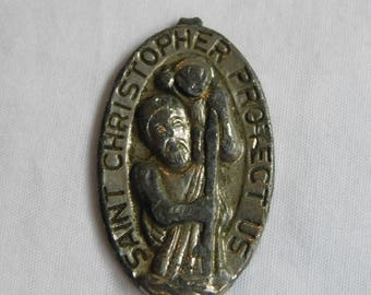 Old Broken St Christopher Pendant or Charm dr27
