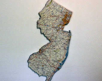 NEW JERSEY State Map Wall Decor | Perfect Gift for Any Occasion | Vintage Map | Large Size
