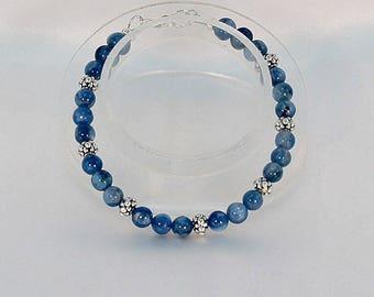 kyanite bracelet, blue jewelry, hypoallergenic bracelet, gemstone bracelet
