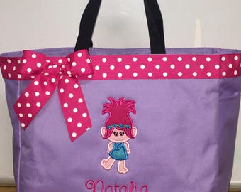 Personalized Princess Poppy Trolls  Tote Bag Baby Diaper Bag
