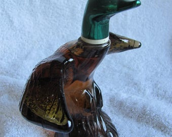 Vintage Avon Bottle Decanter Deep Woods Cologne Glass Duck - Full (#6)