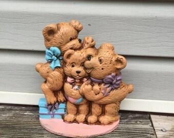 ON SALE Door Stop Teddy Bear Cast Metal Door Stop