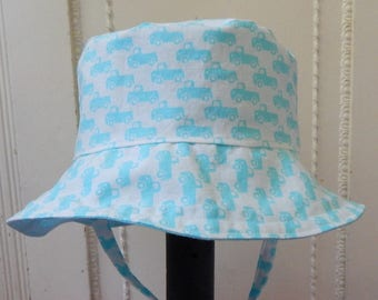Turquoise Toddler Bucket Hat, 1 to 2 Year Boy Sun Hat for Boys, Child Sun Hat
