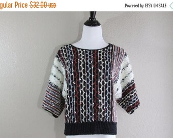 SALE Fun vintage cropped sweater crosby- unisex- fun- hipster