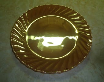 4 vintage termoscrisa peach luster lustre irridescent shell soup bowls