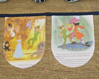 Peter Pan Party Bunting - Nursery Decor Birthday Baby Shower - Captain Hook Homewares Banner Garland