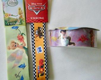 Destash Disney Tinkerbell, Cars , Disney Fairies Craft Ribbon