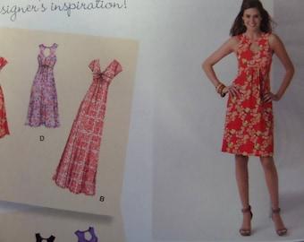 OPEN BACK DRESS Pattern • Simplicity 1612 • Miss 10-18 • Knit Midriff Band Dress • Sewing Patterns • Seamstress Patterns • WhiletheCatNaps