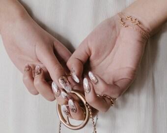 NEW Hydrae Bracelet - constellation celestial bracelet gold filled 14k crystal  - bridal star bracelet - cosmos art deco wedding jewelry